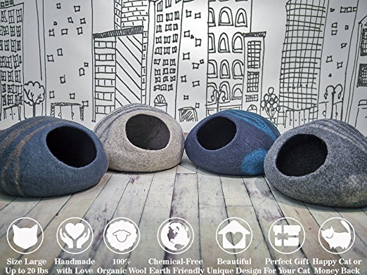 Meowfia Premium Cat Bed Cave colors