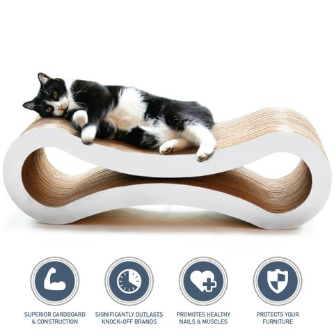 PetFusion Ultimate Cat Scratcher Lounge cloud white