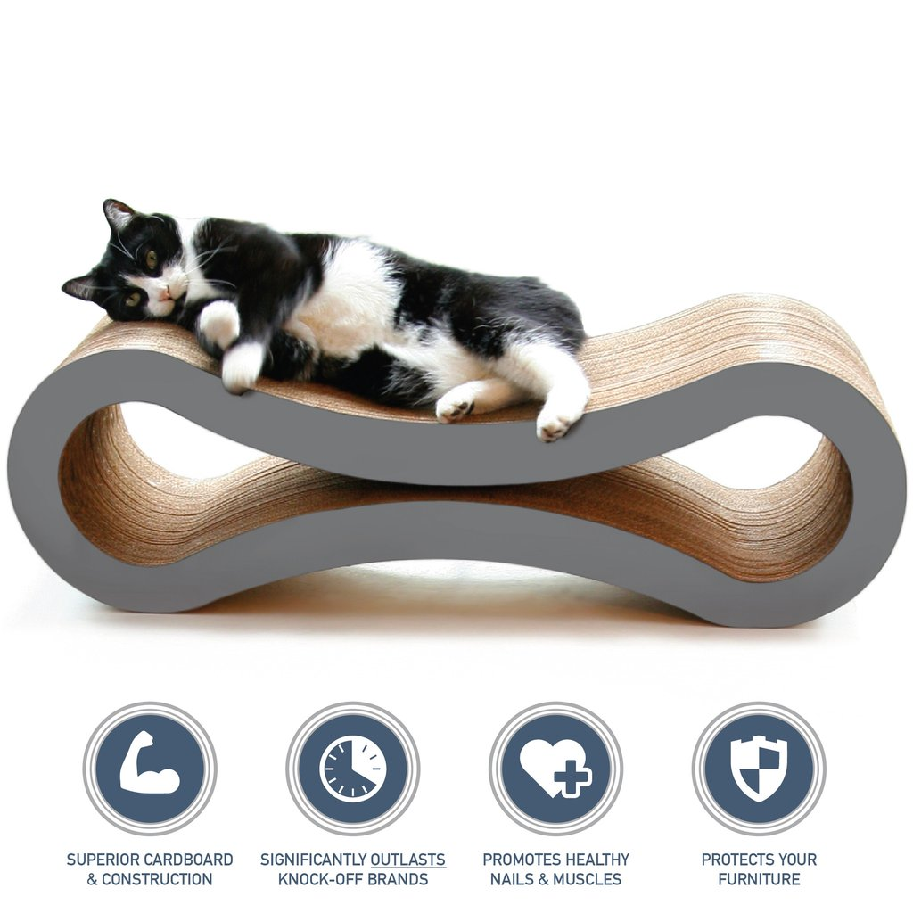 PetFusion Ultimate Cat Scratcher Lounge slate gray
