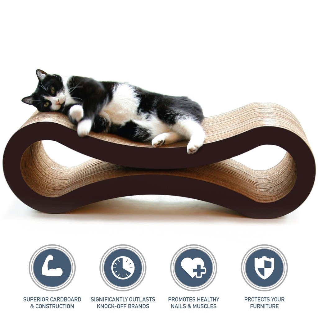 PetFusion Ultimate Cat Scratcher Lounge walnut brown