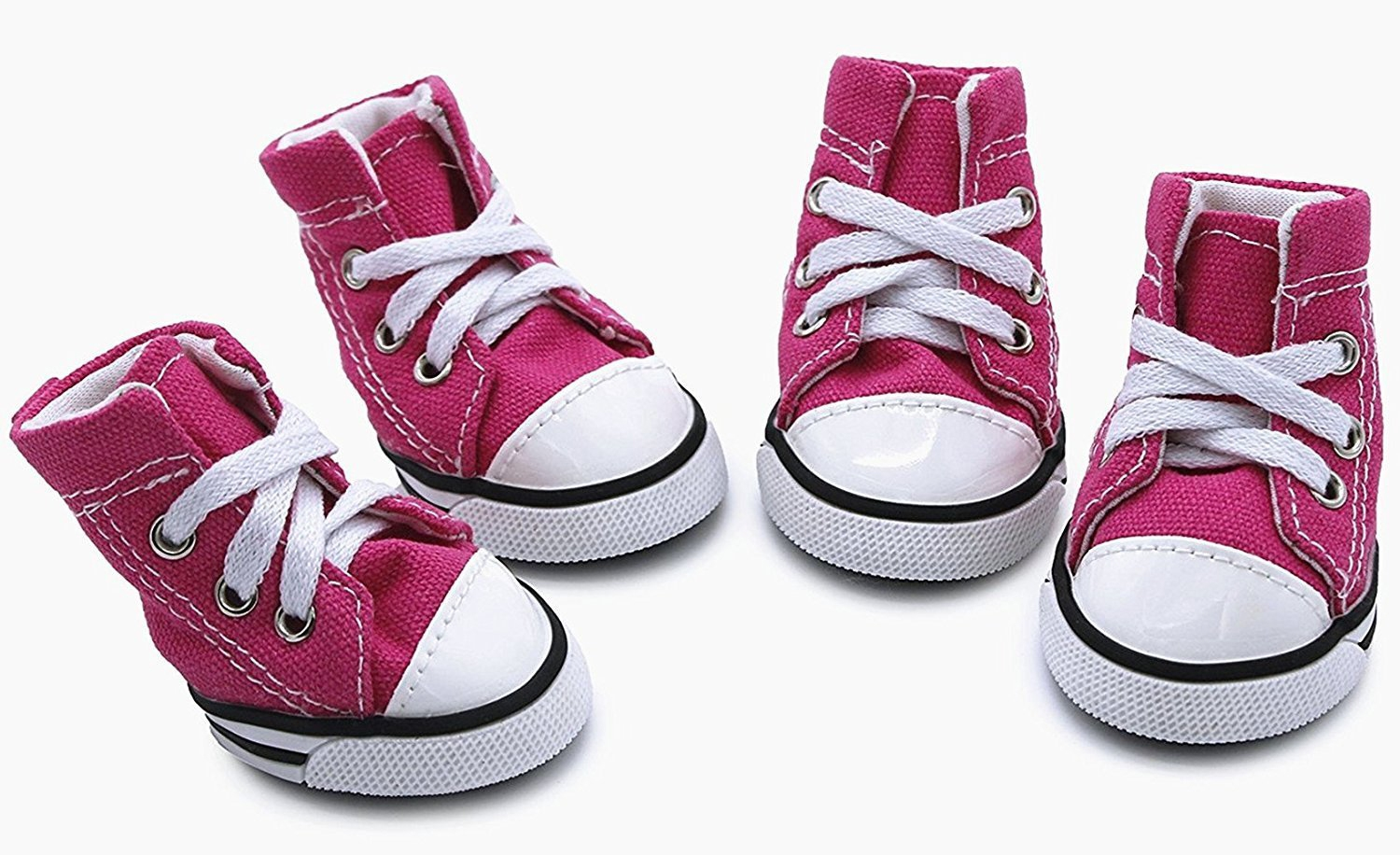 Pink-dog-canvas-sport-shoes