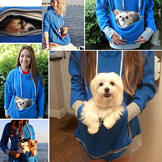 Roodie Pet Pouch Hoodie multi view