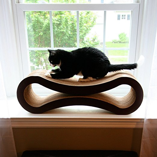 Ultimate Cat Scratcher Lounge cat in window