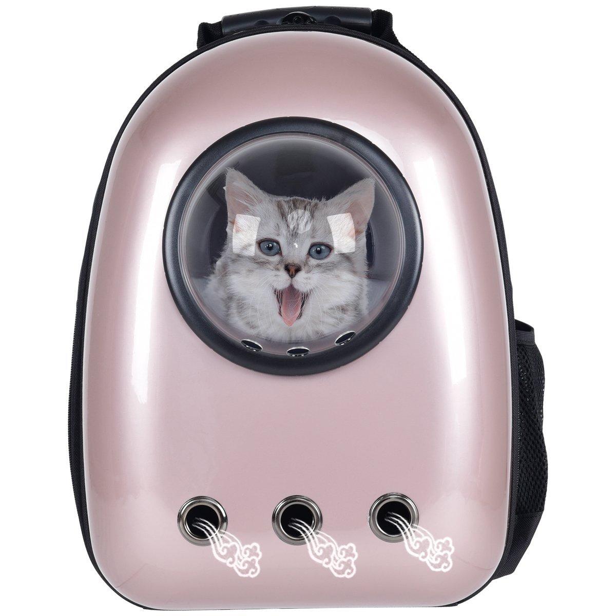 Giantex-Astronaut-Pet-Cat-Dog-Puppy-Carrier-Golden-Color