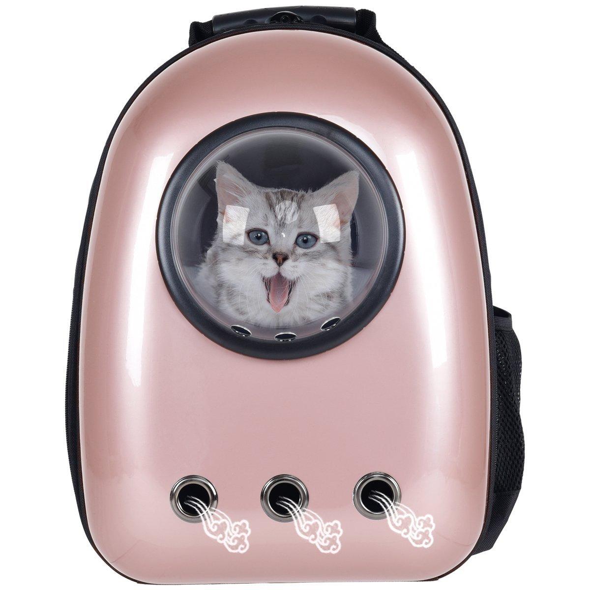 Giantex-Astronaut-Pet-Cat-Dog-Puppy-Carrier-Golden-Rose-Color