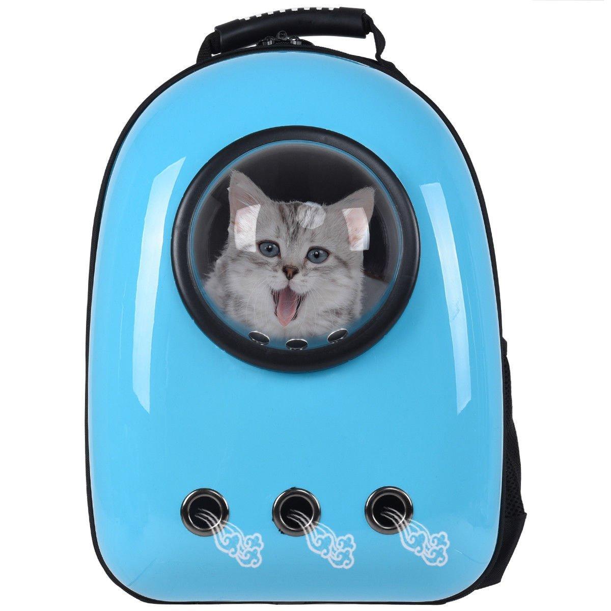 Giantex-Astronaut-Pet-Cat-Dog-Puppy-Carrier-Light-Blue-Color