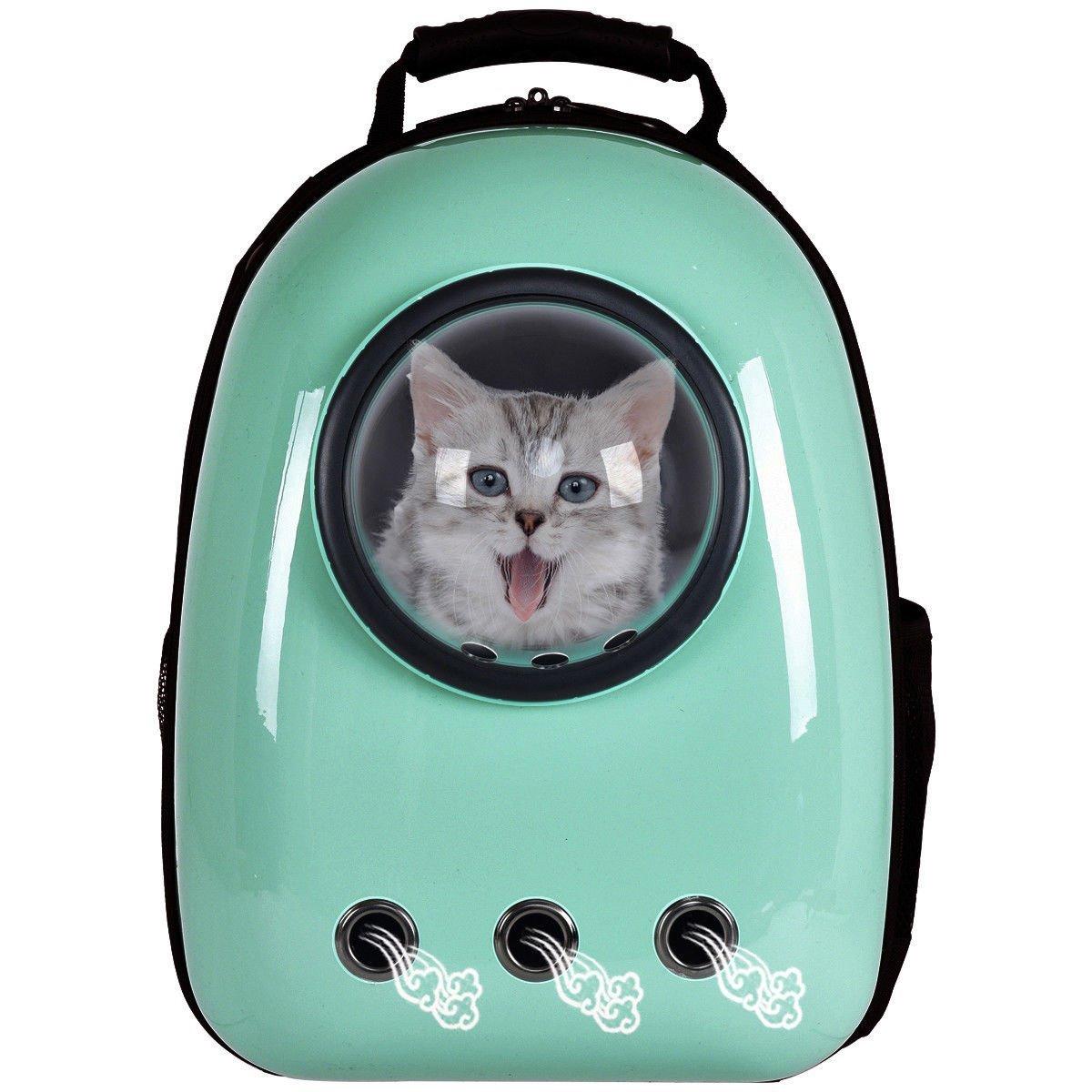 Giantex-Astronaut-Pet-Cat-Dog-Puppy-Carrier-Light-Green-Color