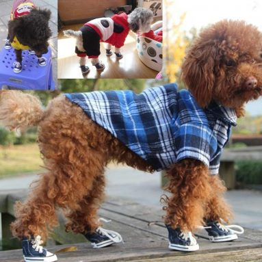 Dog and Puppy Canvas Sport Shoes